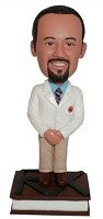 Custom Bobble Head | Pharmacist On Book Bobblehead | Gift Ideas For Men