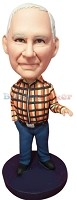 Custom Bobble Head | Flannel Shirt Man Bobblehead | Gift Ideas For Men