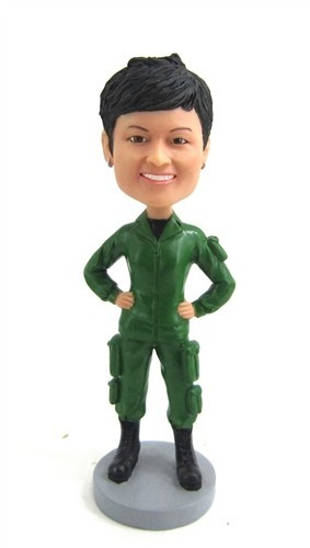 Female Army bobblehead Doll