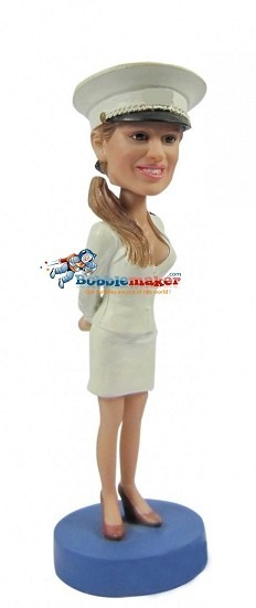 Navy Female bobblehead Doll