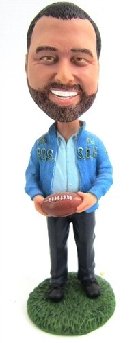 Man With Football bobblehead Doll