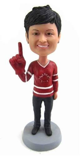 Custom Bobble Head | Female Hockey Fan Bobblehead | Gift Ideas For Women
