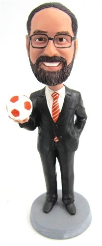 Custom Bobblehead | Businessman With Soccer Ball Bobblehead