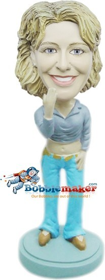 Cropped Top Casual Female bobblehead Doll