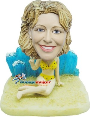 Custom Bobble Head | Beach Woman Bobblehead | Gift Ideas For Women