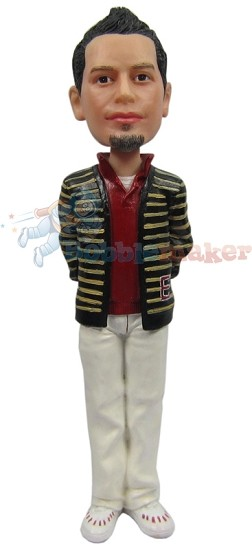 Custom Bobble Head | Cardigan Man Bobblehead | Gift For Men