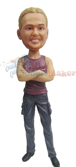 Custom Bobble Head | Tank Top Fashion Man Bobblehead | Gift For Men