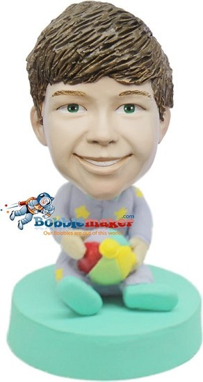 Custom Bobble Head | Boy In Pjs With Ball Bobblehead | Gifts for Kids