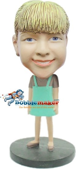 Girl In Simple Dress bobblehead Doll