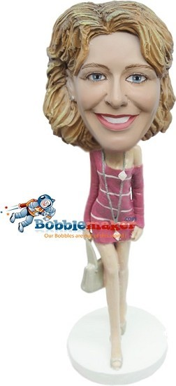 Custom Bobble Head | Skimpy Dress Female Bobblehead | Gift Ideas For Women