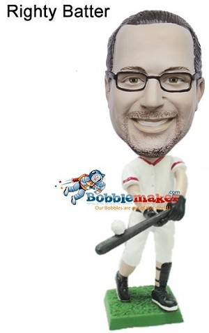Custom Bobble Head | Baseball Batter Bobblehead | Gift Ideas For Men