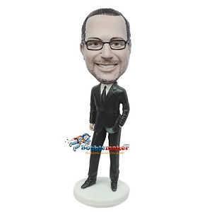 Custom Bobblehead | Laid Back Businessman Bobblehead