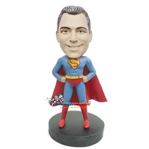 Arms Akimbo Superman bobblehead Doll