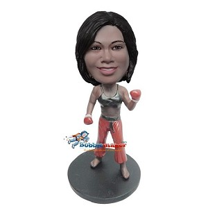 Karate MMA Fighter bobblehead Doll