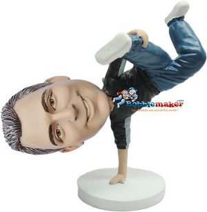 Breakdancing Man bobblehead Doll
