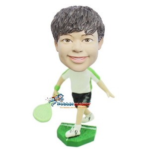 Boy Tennis Player bobblehead Doll