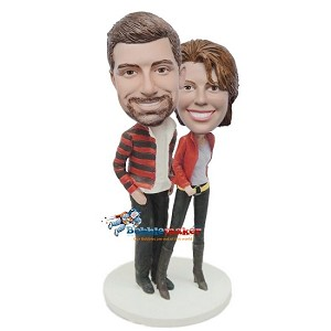Hipster Couple bobblehead Doll