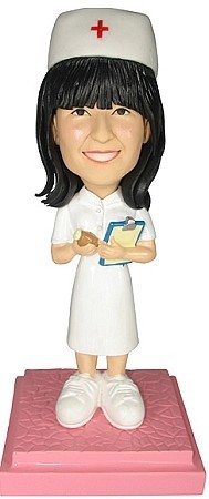 Nurse With Pills bobblehead Doll
