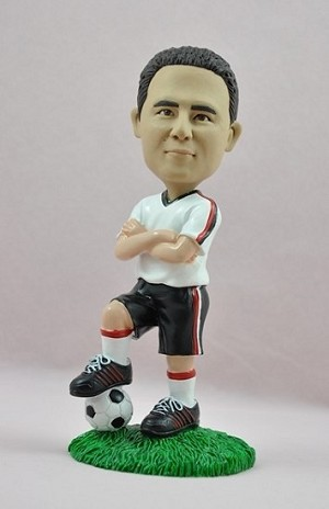 Man Standing On Soccer Ball bobblehead Doll