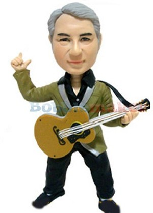 Acoustic Guitar Man bobblehead Doll