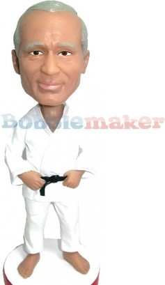 Custom Bobble Head | Black Belt Male Karate Bobblehead | Gift Ideas For Men