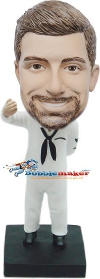 Navy Sailor Man bobblehead Doll