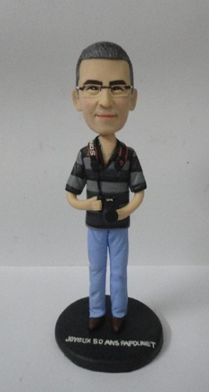 Custom Bobble Head | Photographer Male Bobblehead | Gift Ideas For Men