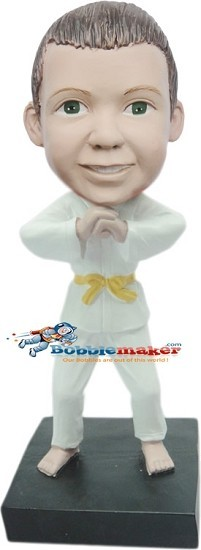 Boy Martial Artist bobblehead Doll
