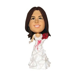 Custom Bobble Head | Bride With Roses Bobblehead | Gift Ideas For Wedding