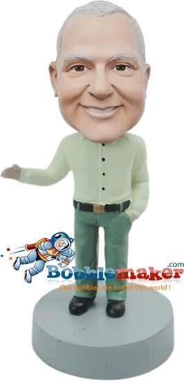 Custom Bobble Head | Tucked In Shirt Man Bobblehead | Gift For Men