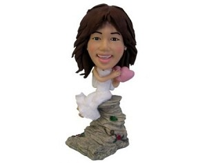 Custom Bobble Head | Bride With Heart Bobblehead | Gift Ideas For Wedding