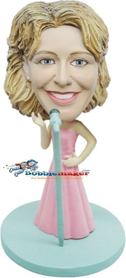 Custom Bobble Head | Female Diva Singer Bobblehead | Gift For Women