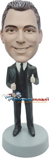 Thumbs Up Businessman bobblehead Doll