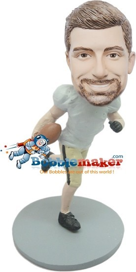 Custom Bobble Head | Running Football Player Bobblehead | Gift For Men