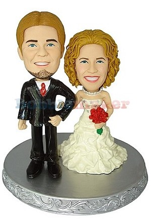 Classic Wedding Couple bobblehead Doll