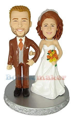 Custom Bobble Head | Retro Bride And Groom Bobblehead | Gift Ideas For Wedding