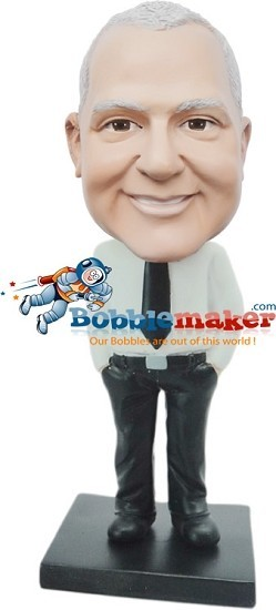 Dress Shirt And Tie Businessman bobblehead Doll