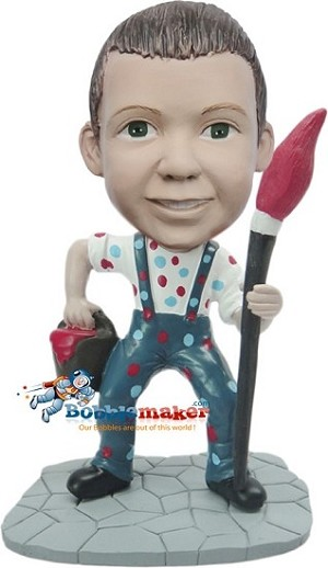 Custom Bobble Head | Boy Painter Bobblehead | Gift Ideas For Men