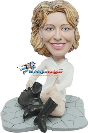 Custom Bobble Head | Casual Female With Boots Bobblehead | Gift Ideas For Women