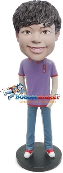 Casual Teen Male bobblehead Doll
