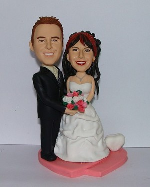 Custom Bobble Head | Arms Around Bride Wedding Couple Bobblehead | Gift Ideas For Wedding