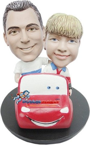 Custom Bobble Head | Far And Son In Car Bobblehead | Gift Ideas For Men