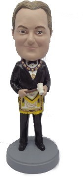 Masonic Male bobblehead Doll