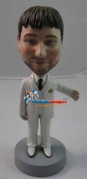 Arm Out Groomsman bobblehead Doll