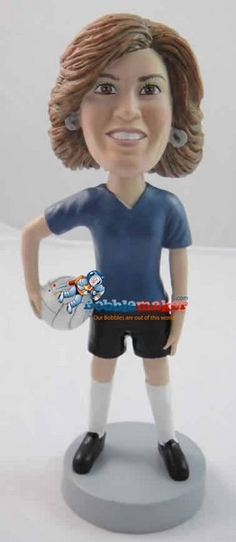 Volley Ball Player Woman bobblehead Doll