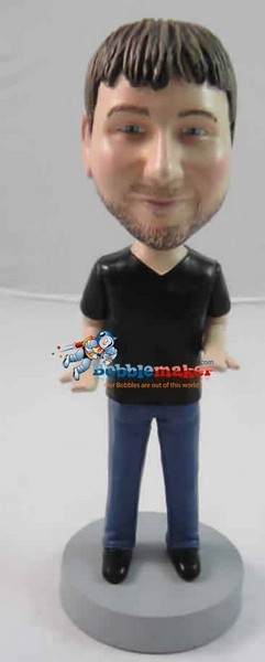 Custom Bobble Head | Hands Out Casual Male Bobblehead | Gift Ideas For Men