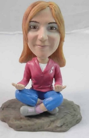 Custom Bobble Head | Meditating Yoga Woman Bobblehead | Gift Ideas For Women