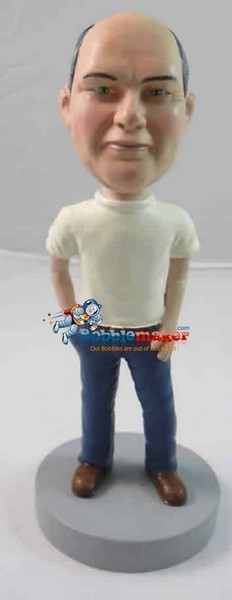 Custom Bobble Head | Hand In Pocket Man Bobblehead | Gift Ideas For Men