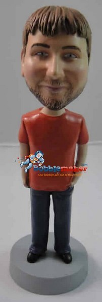 Man With Hand In Pocket bobblehead Doll