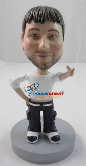 Pointing Man bobblehead Doll
